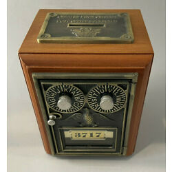 Kyпить Vintage Reproduction Double Dial Eagle Lock Post Office Lock Box Coin Bank 3717 на еВаy.соm