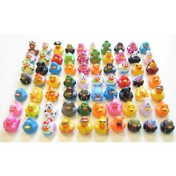 24 NEW ASSORTED RUBBER DUCKS MINI FLOATING DUCKIES KIDS TOY PRIZE 2