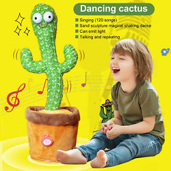 Shake with Song Cute Dance Succulent Lovers Electronic Toy Dancing Cactus Plush