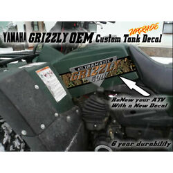 Yamaha Grizzly 600 4x4 Large OEM Tank Decal kit for 1998 1999 2000 2001 atv quad