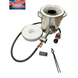 6--8 KG Gas Metal Melting Furnace Propane Forge Casting Tool Gold foundry Refine