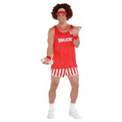 80s Workout Costume Adult Richard Simmons Funny Halloween Fancy Dress