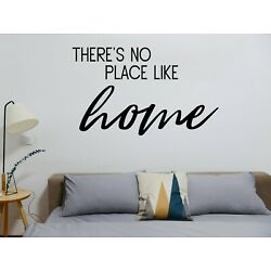 There's No Place Like Home Vinyl Sign Decal Sticker for Car Home Decor Wall Art