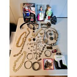 HUGE Junk Drawer Lot - Silver, Jewelry, Collectibles