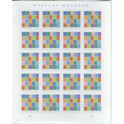 5614 Mystery Message Imperf Pane of 20 No Die Cuts NDC