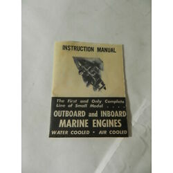 VINTAGE TOY OUTBOARD MOTOR INSTRUCTION MANUAL - ATWOOD OUTBOARD & INBOARD MOTORS