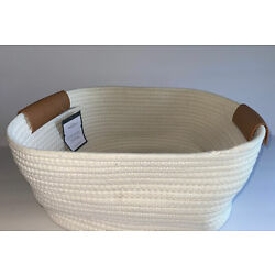 12'' x 11'' x 6''  Decorative Coiled Rope Square Base Tapered Baskets - READ /DIRTY