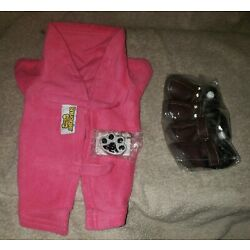 Dog Snuggie Pink S Small Brand Unisex Fleece Dog Coat Key Chain Boots Shoes Lot