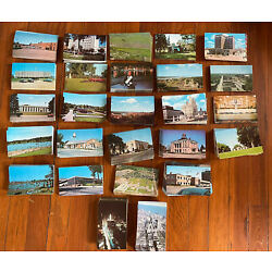 Huge lot of 100 Unused USA Vintage Chrome Postcards from IA and IL. Only $6 !!!
