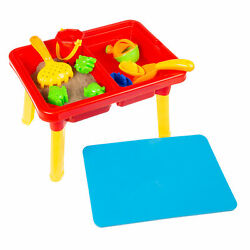 Water or Sand Sensory Table with Lid and Toys  Portable Covered Playset