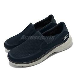 Skechers Go Walk 6-ORVA Blue Grey Men Casual Slip On Shoes Loafers 216200-NVY