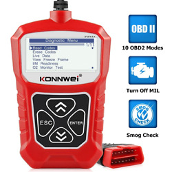 KONNWEI KW310 OBD2 Scanner Full OBDII Functions 10 Modes Automotive Red
