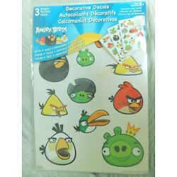 Rovio Angry Birds Reusable Wall Stickers Decorative Decals - 3 sheets