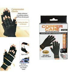 Copper Compression Arthritis Gloves Carpal Tunnel Joint Pain Relief Infused Pair