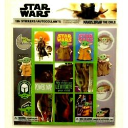 136 STICKERS Star Wars Mandalorian The Child 12 SHEETS 3 DESIGNS-New