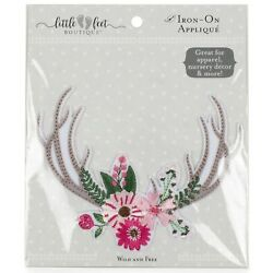 Fabric Editions Little Feet Boutique Iron-On Applique-Wild And Free Antler