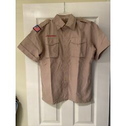 NEW Vented Microfiber Boy Scout BSA UNIFORM SHIRT Youth  Large Poly