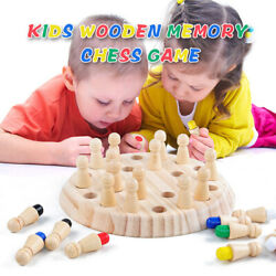 Children's Intelligent Toys Colorful Memory Chess Wooden Memory Matchstick Z3V5