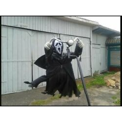 Flying Ghost Face Halloween Decoration Scarecrow Funny Spooky Party Props 357665