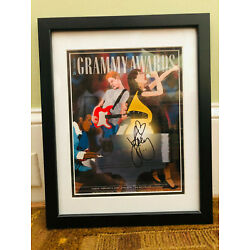 KATY PERRY * SIGNED AUTOGRAPH *  51ST GRAMMY AWARDS PROGRAM COVER * FRAMED