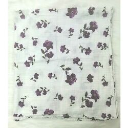 Margeaux & May Purple Floral Organic Muslin Security Infant Swaddle Baby B73