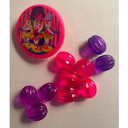 vintage lisa frank bead mania replacement glassy beads 90s Ballerina Bunny Pin