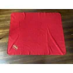 VINTAGE SAHARA HOTEL CASINO LAS VEGAS Red Cloth Tapesty Tablecloth 56 in Dec