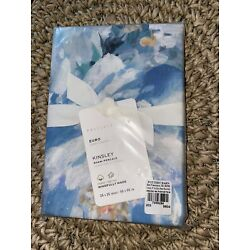 POTTERY BARN  BLUE KINSLEY FLORAL EURO PILLOW SHAM  NEW In package