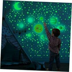 Glow in The Dark Stars and Moon Decals, 525Pcs Wall Stickers-Realistic Stars