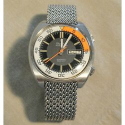 1970 vintage Accutron 218 - Snorkel 666 Diver Watch - Large 41mm -Fully Serviced