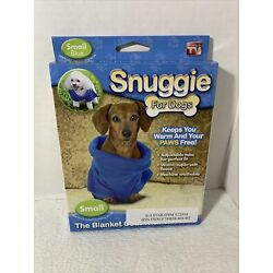 SNUGGIE FOR DOGS, Keeps your Puppy Warm and Paws Free, Pink Size Small, NIP