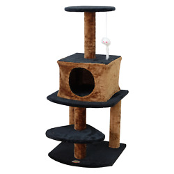 Go Pet Club 40-in Cat Tree & Condo Scratching Post Tower, White