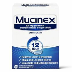 Mucinex 12 hour Chest Congestion Relief Powerful Symptom Relief Tablets 100 Ct