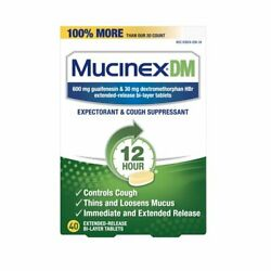 Mucinex DM 12 hour Cough/Chest Congestion Powerful Symptom Relief Tablets 40 Ct