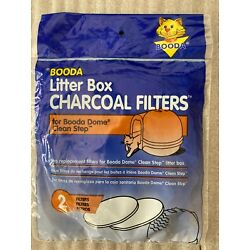 NIP! Booda Charcoal Litter Box Air Filters for Dome Clean Step - Package of 2