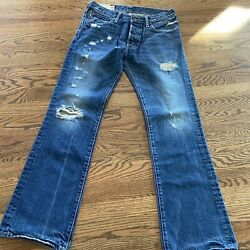 Vintage A&F Abercrombie & Fitch Jeans Classic Straight Leg Size 30x30 Dustressed