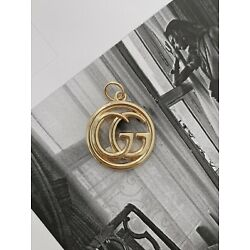 Gucci Gold Plated Metal Button Zipper Pull, 23mm, Double-sided