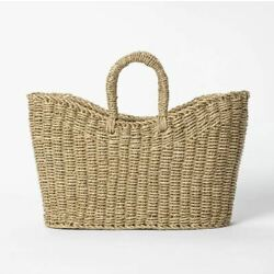 Studio McGee x Threshold 16'' x 6'' x 13'' Tapered Oval Seagrass Braided Basket NEW