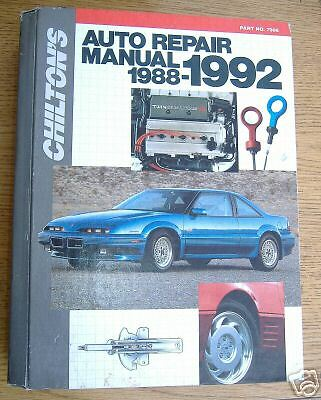 Chilton 39 S American Auto Repair Manual 88 92 Ebay