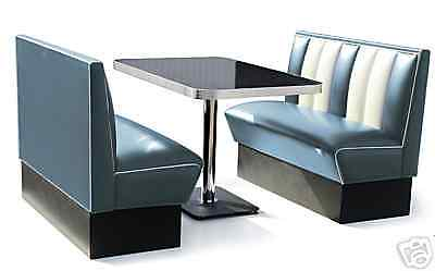 retro 50s diner furniture kitchen table restaurant bench booth seating