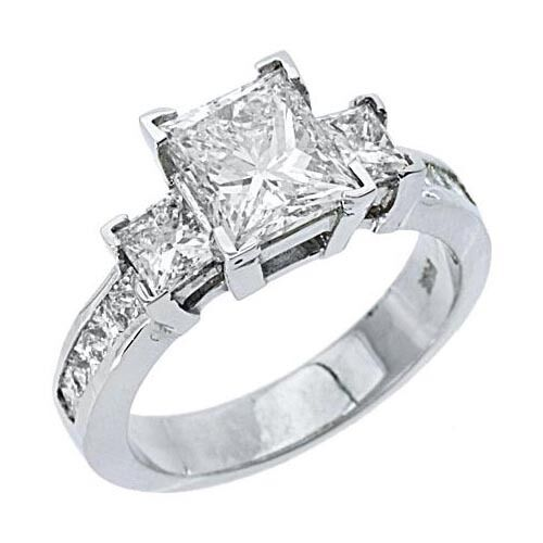 3 carat womens 3 past present future ring