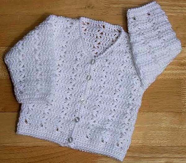 BABIES- 6 YEARS CARDIGAN CROCHET PATTERN NO.186 DESIGNED ...
