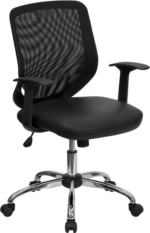 chrome base mesh leather computer office desk chair ebay