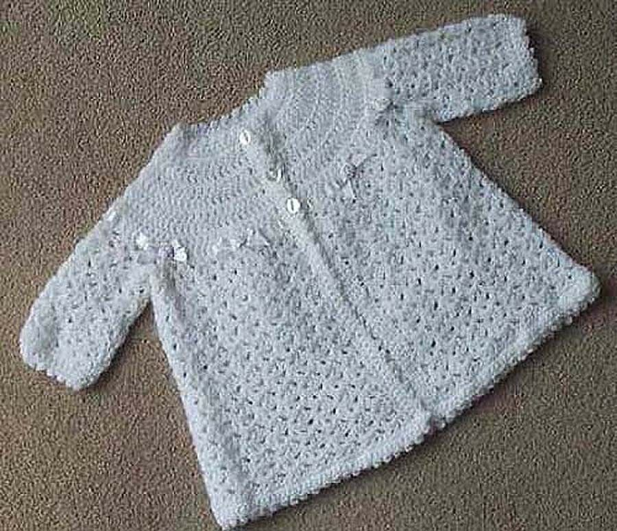 BABIES MATINEE COAT CROCHET PATTERN NO.52 DESIGNED BY KAY ...