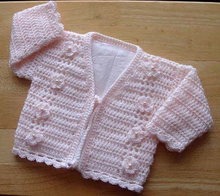 Crochet Pattern Central Baby Cardigans : BABIES/CHILDRENS CARDIGAN CROCHET PATTERN NO.173 DESIGNED ...