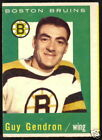 1959 60 TOPPS HOCKEY 24 JEAN GUY GENDRON VG-EX BOSTON BRUINS