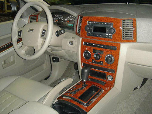 Wood dash trim kit fits jeep grand cherokee 2005 2006 2007 - Jeep grand cherokee interior parts ...