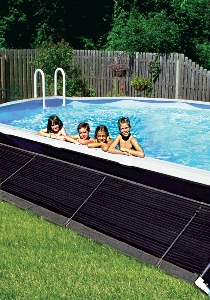 Swimming pool solar heater panel free heat new ebay - How to put hot water in a swimming pool ...