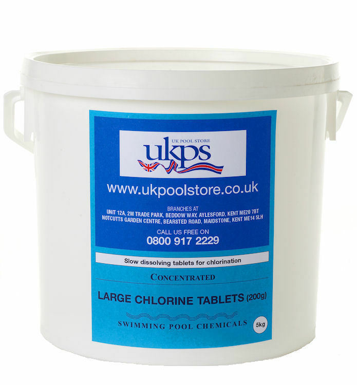 5kg large chlorine 200g tablets for swimming pools ebay - How to put chlorine in swimming pool ...