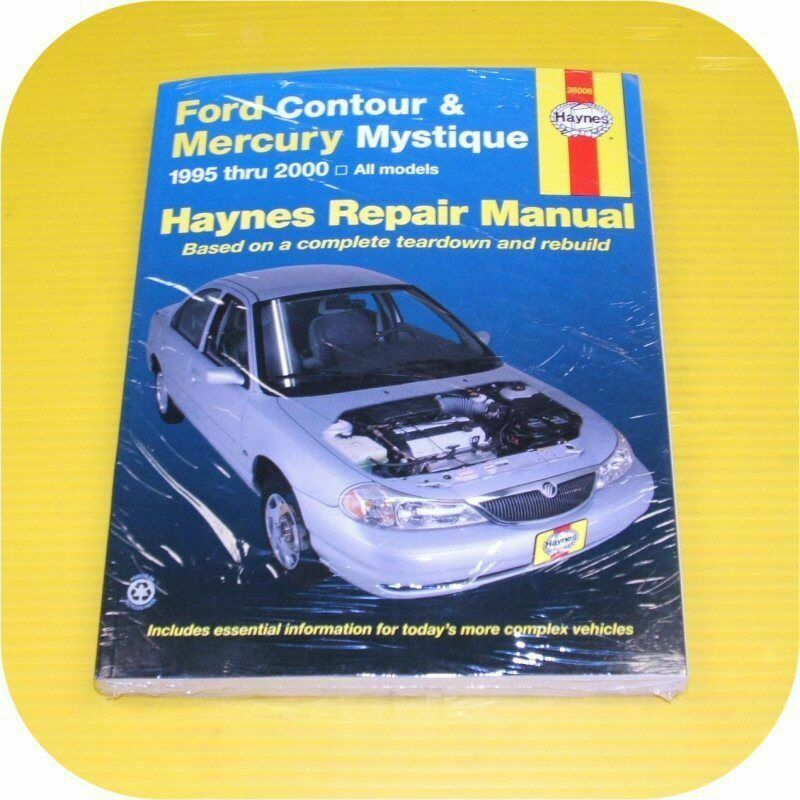 Repair Manual Book Ford Contour Mercury Mystique 95-00 | eBay